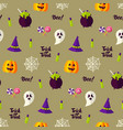 happy halloween holiday seamless background vector image vector image