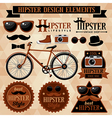 Hipster elements vector image