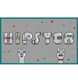 Hipster Vintage gray card vector image vector image