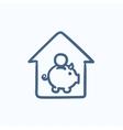 House savings sketch icon vector image vector image