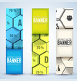 infographic business mosaic vertical banners vector image