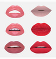 lips set vector image vector image