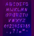 liquid neon font icon set vector image