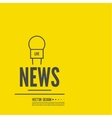 Live news template vector image vector image