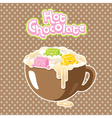 marshmallow hot chocolate vector image vector image