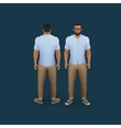 men in pants and shirt vector image vector image