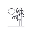 negotiations on the phone line icon concept vector image vector image
