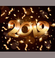 new year abstract 3d background with golden vector image