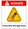 No Fireworks warning icon vector image vector image