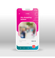 pink e-shop ui ux gui screen for mobile apps vector image vector image