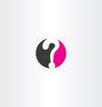 question mark circle logo icon symbol vector image vector image