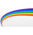 rainbow icon shape arch realistic isolated vector image vector image