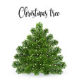 realistic christmas green tree without toys vector image vector image