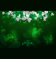 realistic st patricks day flyer and poster vector image
