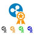 ripple reward icon vector image
