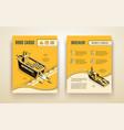 ro-ro cargo company ad brochure isometric vector image