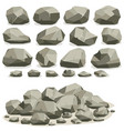 rock stone cartoon in isometric flat style set of vector image vector image