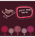 romantic wallpaper with place for your design vector image vector image