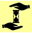 Save or protect symbol by hands vector image vector image
