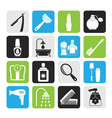 Silhouette body care and cosmetics icons vector image vector image