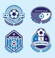 Soccer club Spot Logo vector image vector image