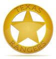 star texas ranger vector image vector image