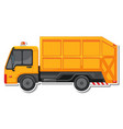 sticker design with side view dump truck vector image