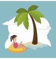 summer vacation holiday icon vector image