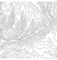 topographic map black line on white vector image vector image