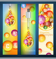 vitamins vertical banners vector image vector image