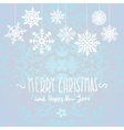 winter Merry christmas card with snowflakes vector image