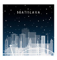 winter night in bratislava night city vector image vector image