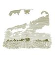 Woodcut Kansas Farm vector image vector image