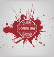 world blood donor day vector image vector image