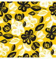 yellow and black flowers repeatable motif vector image vector image