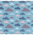 Cute funny clouds seamless pattern vector image