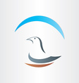 dove freedom symbol abstract design vector image
