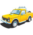 yellow off-road vehicle vector image