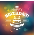 Bright colorful Birthday card design vector image