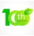 100 anniversary green logo