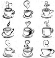Abstract Hand Drawn Coffee Cup vector image vector image
