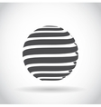 Abstract swirl sphere globe symbol