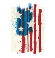 american colors styled grunge flag vector image vector image
