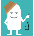Animated personality fishing vector image vector image