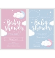 Baby shower set Cute invitation cards for baby vector image vector image
