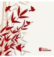 Bamboo print vector image vector image