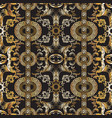 baroque seamless pattern damask background vector image vector image