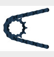 bicycle driven gear with chain vector image