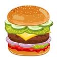 Big Burger on white background vector image
