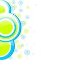 Blue and green circles vector image vector image